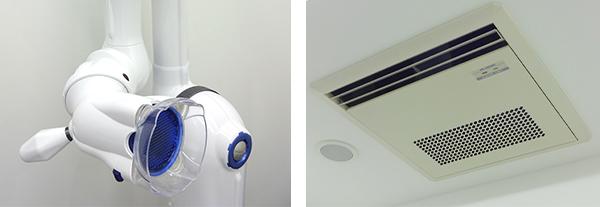 じん歯科設備・フリーアーム&クリアテック空気清浄機